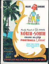 1949 12/25 North vs South All Star Football Game Program Miami Florida