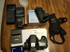 Canon EOS 70D 20.2MP DSLR, Battery Grip, Black Rapid Strap & Flash!  Such a deal
