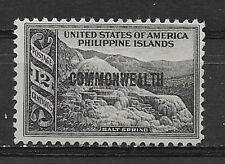 PHILIPPINES , USA , 1936/37 , COMMONWEALTH , 12c STAMP O.P.  PERF, VLH