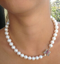 Pearl necklace freshwater 9kt Gold Made in Italy