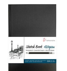 Hahnemühle Spiral-Bound Sketch Book (Black Cover, A4, 60 Sheets)