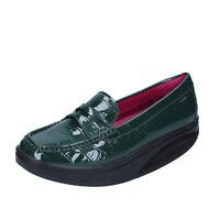scarpe donna MBT 38 EU mocassini verde vernice dynamic BZ906-E