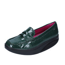 scarpe donna MBT 39 EU mocassini verde vernice dynamic BZ906-D