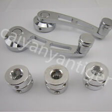 1 pair 120*38 mm Car Truck Manual Window Crank Handle s Chrome Knob Universal