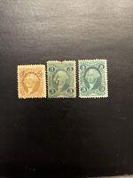 US Stamps Scott R15c,16c,18c...Internal Revenue 2 & 3 Cent Used
