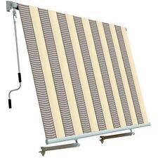 Tenda da sole per balcone con sistema a caduta Colore ECRU GRIGIO 250x250cm
