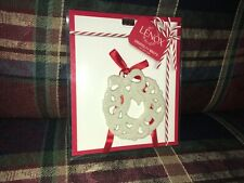 Lenox Pierced Wreath Charm Tree Ornament - New and Unopened