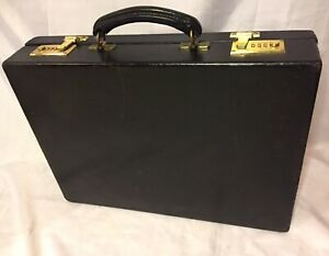 swaine adeney brigg Briefcase Vintage Black Leather Hand Made