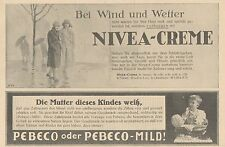 Y4876 Zahnpasta PEBECO - NIVEA Creme - Pubblicità d'epoca - 1927 Old advertising