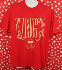 Vtg Champion King's College Wlikes Barre PA Mens XL T Shirt  Made in USA A093