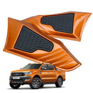 For Ford Ranger Wildtrak Hi-Rider 2015 18 FLQ Side Vent Simulator Cover Orange