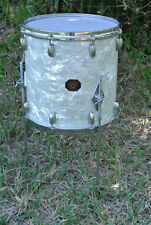 "ADD this RARE GRETSCH 14"" WHITE PEARL 4417 FLOOR TOM to YOUR DRUM SET TODAY A765"