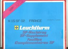 24 FEUILLES LEUCHTTURM SF FRANCE  AVEC POCHETTES 2002 COMPLET  + CARNETS