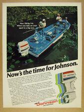 1978 Johnson 150 outboard motor Ranger Bass Boat fishing photo vintage print Ad