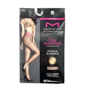 Maidenform Self Expressions Curve Enhancer Shaping Pantyhose Small Nude 1 Pair