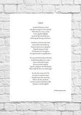 William WORDSWORTH-JONQUILLES-inspirant Poème-A4