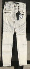 BNWT Guess Moto Panel skinny jeans! Special Edition! White! Size 24
