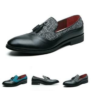 38-46 Mens Dress Formal Business Faux Leather Shoes Pointy Toe Oxfords Slip on D