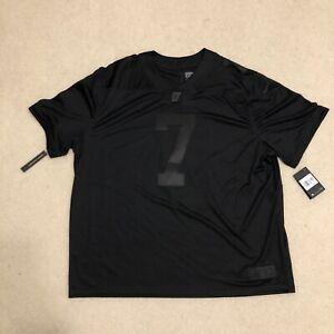 NFL Nike Colin Kaepernick Icon 2.0 True to 7 Black Jersey CN5314-011 Men's 3XL