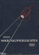 VEB Carl Zeiss Jena Mikroskopierleuchten Prospekt DDR 1952 Mikroskop
