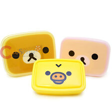 San x Rilakkuma 3 Lunch Box Food Containers 6pc Bento Set Korilakkuma Kiroitori