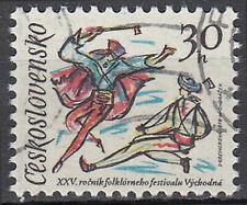 Tschechoslowakei gestempelt Tracht Kostüm Folklore Brauchtum Bühne Tanz / 689