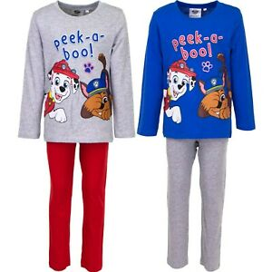 Paw Patrol Pyjama Schlafanzug für Junge Kinder Marshall Rubble