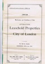 LONDON 12 page Sale Catalogue of Properties in the City 1913