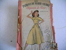 vintage LES PATRONS DE MARIE CLAIRE robe n° 6085 ans 50