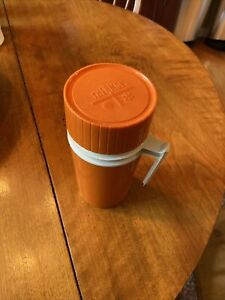 Vintage King SeeleyThermos Pint Size Model 7202 Orange Insulated Travel/soup