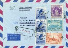 426876) Burma / Birma Luftpost-Einschreiben nach Deutschland, Vögel, Rinder