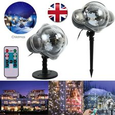 Christmas Lights LED Snow Laser Projector Light Fairy Snowfall Lamp Xmas Outdoor
