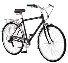 Schwinn Men's Wayfarer Hybrid Bike 7 speed, Black Retro Style