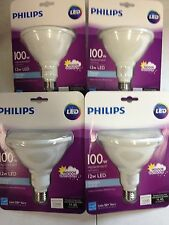 Philips LED PAR38 12-100watt Flood Light Bulb Indoor Outdoor 1200 Lumen 4 PACK