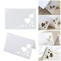 50pcs Heart Hollow  Table Name Place Cards Wedding Guest Place Cards Decoration