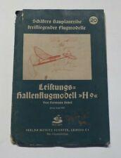 """Schäfer Bauplan Nr.20 Flugmodell, Leistungs - Hallenflugmodell """"H9"""", von 1942"""