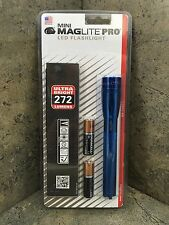 New Mini Maglite PRO LED Flashlight 2 AA Blue SP2P11H - 272 Lumens