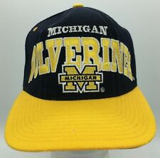 Vintage Michigan Wolverines Spell Out Logo Embroidered Wool Starter Snapback Hat
