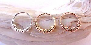 Septum Ring Bead Wrapped   Seamless,Endless Hoop,Segment Hoop,Earring,Nose ring