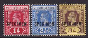 Virgin Islands. 1d, 2 1/2d & 3d specimens. Fine mounted mint.