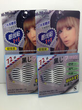 2x pack 144 pieces double eyelid tape or eyeliner sticker - Black (Size SMALL)