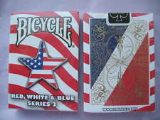 Rare Bicycle Red, White & Blue Deck Series 3 Playing Cards Magic Star Design Ace