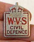 Vintage WWII Home Front WVS CIVIL DEFENCE Enamel Pin Badge BUTLER BIRMINGHAM