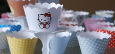 """12 GIRLS Party """"HELLO KITTY """" Cupcake Wrappers-WORLDWIDE FREE SHIPPING"""
