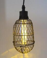 Hanging Lamp Etched Edison Bulb Light Fixture 6 Hr Timer Battery Powered