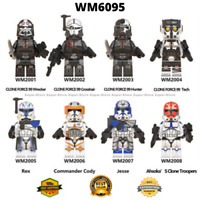 8PCS Star Wars Clone Force Bad Batch Commander Minifigures Lot Lego MOC Kid Toys