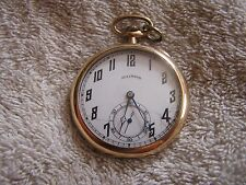Antique Illinois Pocket Watch Swing Out Movement 17 Jewels Double Roller