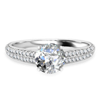 2.02 Ct Diamond Solitaire Ring Solid 14K White Gold Engagement Ring Size O N M K