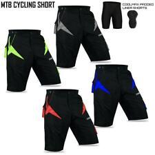MTB SHORTS CYCLING PADDED LINNER SHORTS Baggy style  M-XXL
