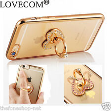 Universal 360 Degree Bling Crystal Heart Ring Phone Holder Stand for All Phones